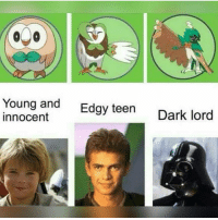 TRUE: Young and  Edgy teen  Dark lord  Innocent TRUE