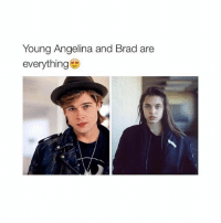❤️: Young Angelina and Brad are  everything ❤️