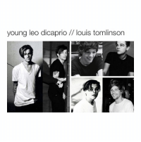 both look great: young leo dicaprio louis tomlinson both look great