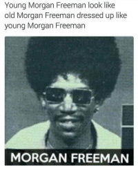 Blackpeopletwitter, Morgan Freeman, and Old: Young Morgan Freeman look like  old Morgan Freeman dressed up like  young Morgan Freeman  MORGAN FREEMAN <p>Where's the lie? (via /r/BlackPeopleTwitter)</p>
