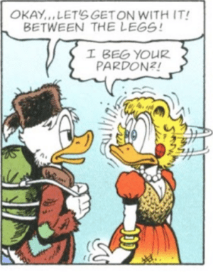 Young Scrooge McDuck knows how to talk to ladies: Young Scrooge McDuck knows how to talk to ladies