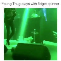 """Memes, Thug, and Young Thug: Young Thug plays with fidget spinner YT is for the people! I'm not sure what was funnier, youngthug not knowing what a fidgetspinner is or the fan constantly telling him to """"play with it"""" 😂 Follow my backup @onlyinthehood"""