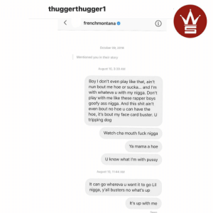 Young Thug shows his DM he sent to French Montana back in August! 👀😳 @youngthug https://t.co/cafLQUiKDR: Young Thug shows his DM he sent to French Montana back in August! 👀😳 @youngthug https://t.co/cafLQUiKDR
