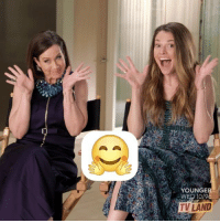 Try to watch this without cracking up 😆. WorldEmojiDay @hilaryduff @nicotortorella @bollymernard @suttonlenore: YOUNGE  WED 10/9  TV LAND Try to watch this without cracking up 😆. WorldEmojiDay @hilaryduff @nicotortorella @bollymernard @suttonlenore