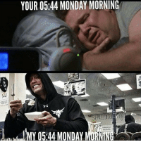 Hungry, Monday, and More: YOUR 0544 MONDAY MORNING  MY 05.44 MONDAY Motivated... and hungry... but more hungry
