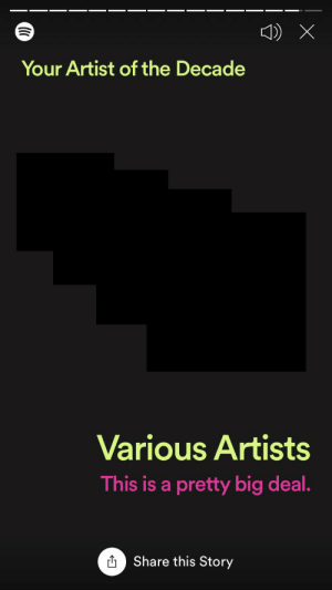 Artist, Big, and Story: Your Artist of the Decade  Various Artists  This is a pretty big deal.  O Share this Story That's a pretty big deal