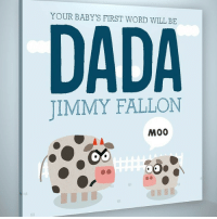 Jimmy Fallon, Word, and Dada: YOUR BABY'S FIRST WORD WILL BE  DADA  JIMMY FALLON  M00 <p>Only one week left until Father&rsquo;s Day! DADAbook.com - Jimmy</p>
