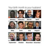 Girl, Tag Someone, and Husband: Your birth month is your husband  January February March April  May  June  July August  September October November December Tag someone 😂 @teengirlclub @teengirlclub @teengirlclub