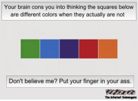 <p>Funny naughty pictures  Worthily celebrating hump day  PMSLweb </p>: Your brain cons you into thinking the squares below  are different colors when they actually are not  Don't believe me? Put your finger in your ass.  The Intenet Scavengers <p>Funny naughty pictures  Worthily celebrating hump day  PMSLweb </p>