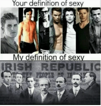 Definitely, Irish, and Sex: Your definition of sexy  My definition of sex  IRISH REPUBLIC