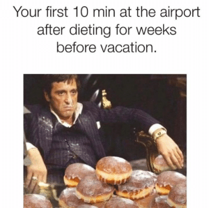 Donut time 🍩 💗: Your first 10 min at the airport  after dieting for weeks  before vacation. Donut time 🍩 💗