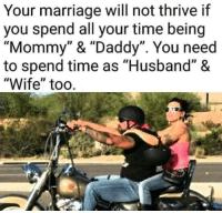"""#mhmber: Your marriage will not thrive if  you spend all your time being  """"Mommy"""" & """"Daddy"""". You need  to spend time as """"Husband"""" &  """"Wife"""" too. #mhmber"""