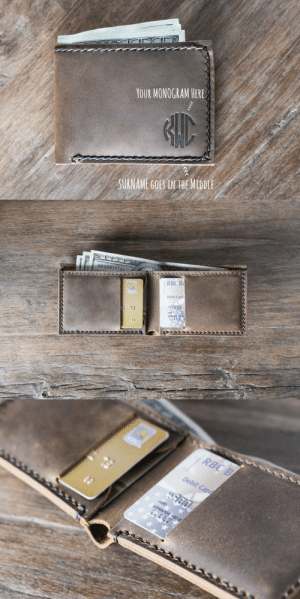 meme-mage:      ON SALE Monogram Wallet, PERSONALIZED Gifts for Men, Father's Day Gift, Leather Wallet, Groomsmen Gifts, Gifts for Him, Mens Wallets      This listing is for a Monogrammed Wallet. It measures the bare minimum 3 inches by 4 inches, as small as it gets without folding your money!!   https://www.etsy.com/listing/165616032/on-sale-monogram-wallet-personalized : YOUR MONOGRAM HERE  SURNAME GOES IN HE MIDDLE   KK 138  NOTE  832164 с  RBC B  BC  Debit Card  #900  13  4900  EXPIRATION: END OF   RBC B  Debit Carg  EXPIRATION: END OF meme-mage:      ON SALE Monogram Wallet, PERSONALIZED Gifts for Men, Father's Day Gift, Leather Wallet, Groomsmen Gifts, Gifts for Him, Mens Wallets      This listing is for a Monogrammed Wallet. It measures the bare minimum 3 inches by 4 inches, as small as it gets without folding your money!!   https://www.etsy.com/listing/165616032/on-sale-monogram-wallet-personalized