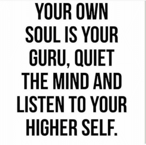 Knowing is half the battle...: YOUR OWN  SOUL IS YOUR  GURU, QUIET  THE MIND AND  LISTEN TO YOUR  HIGHER SELF Knowing is half the battle...