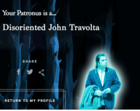 John Travolta, Travolta, and Share: Your Patronus is a...  Disoriented John Travolta  SHARE  RETURN TO MY PROFILE