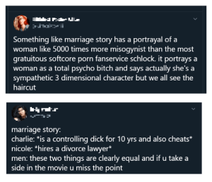 """Your reaction to """"Marriage Story"""" is a good litmus test of your internalized misogyny levels: Your reaction to """"Marriage Story"""" is a good litmus test of your internalized misogyny levels"""
