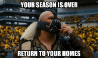 Nfl, Live, and Pittsburgh: YOUR SEASON IS OVER  RETURN TO YOUR HOMES Live look into Pittsburgh...