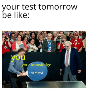 It do be like that: your test tomorrow  be like:  yoй  your knowledge  the test It do be like that