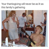 Your thanksgiving will never be as lit as  this family's gathering  IG: davie aVe Gotta do homework uh oh