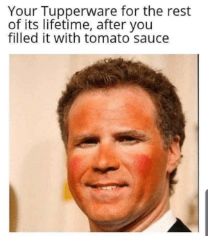 Meirl: Your Tupperware for the rest  of its lifetime, after you  filled it with tomato sauce Meirl