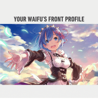 9gag, Anime, and Memes: YOUR WAIFU'S FRONT PROFILE Wake up! You don't have a waifu! 🤐 Follow @9gag - - - 9gag anime 2d rem waifu savage poster