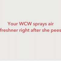 Your WCW sprays air  freshner right after she pees @dee.361 you be cracking me the fuck up 😩😩😩😂💋 wcw pee stankkkkk thatgirlsayswhat