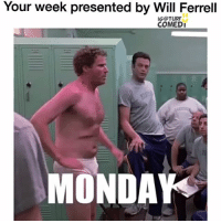 Memes, Will Ferrell, and 🤖: Your week presented by Will Ferrell  IG @TURF  COMEDI  MONDAY 😂👌