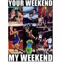 All Star, Nba, and Star: YOUR WEEKEND  @NBAMEMES  MY WEEKEND ALL STAR WEEKEND