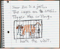 Sometimes children are wiser than the adults... https://t.co/Hwj4tsWo1t: your Zoo is d  dil  The cages are  to emaLL  Tigger Was crying  E T hate the visit Sometimes children are wiser than the adults... https://t.co/Hwj4tsWo1t