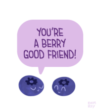 "<p><a href=""http://positivedoodles.tumblr.com/post/149417675683/drawing-of-two-blueberries-one-of-the-blueberry"" class=""tumblr_blog"">positivedoodles</a>:</p>  <blockquote><p>[Drawing of two blueberries. One of the blueberry is saying ""You're a berry good friend!"" in purple text in a purple speech bubble.]</p></blockquote>: YOU'RE  A BERRY  GOOD FRIEND  EMM  R0 <p><a href=""http://positivedoodles.tumblr.com/post/149417675683/drawing-of-two-blueberries-one-of-the-blueberry"" class=""tumblr_blog"">positivedoodles</a>:</p>  <blockquote><p>[Drawing of two blueberries. One of the blueberry is saying ""You're a berry good friend!"" in purple text in a purple speech bubble.]</p></blockquote>"