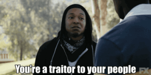 """Mrw, Mitch McConnell, and Reactiongifs: You're a traitor to your people FX MRW Mitch McConnell blocks an election security bill on the same day Special Counsel Mueller tells us the Russians are attacking our elections """"as we sit here""""."""