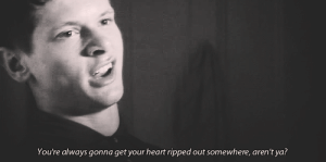 https://iglovequotes.net/: You're always gonna get your heart ripped out somewhere, aren't ya? https://iglovequotes.net/