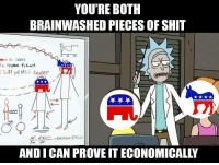 Brainwashed: YOU'RE BOTH  BRAINWASHED PIECES OF SHIT  a MAPPING fis M  부부부  ANDI CAN PROVE IT ECONOMICALLY