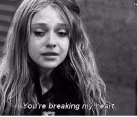 Heart, Breaking, and Youre: You're breaking my heart