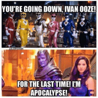 Ivan Ooze, Time, and Comics: YOU'RE GOING DOWN, IVAN OOZE!  ON89  FOR THE LAST TIME!IM  APOCALYPSE! Dafuq happen to you?!  <3 Catwoman #gothamcitymemes