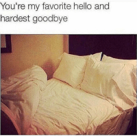 Hello, Straight, and Youre: You're my favorite hello and  hardest goodbye Damn straight.