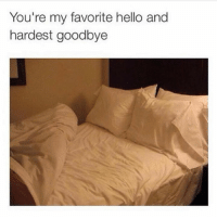 Dank, Hello, and 🤖: You're my favorite hello and  hardest goodbye Missing you already
