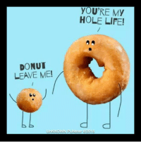 Did you hear about the baker that stopped making donuts? He got tired of the hole thing. #UnKNOWN_PUNster: YOU'RE MY  HOLE LIFE!  DONUT  LEAVE ME!  UnKNOWN PUNster @2018 Did you hear about the baker that stopped making donuts? He got tired of the hole thing. #UnKNOWN_PUNster