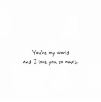 Love, Memes, and I Love You: You're my world  and I love you so much.