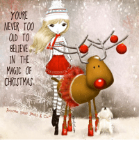 Nope. Never. Hugs and Giggle out Loud - GrandmasFolliescom: YOURE  NEVER TOO  BELIEVE  IN THE  MAGIC OF  CHRISTMAS.  Princess  Sassy Pants & Co. Nope. Never. Hugs and Giggle out Loud - GrandmasFolliescom