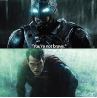"""Batman, Love, and Memes: """"You're not brave."""" Opinions on Batman vs. Superman? Did you love it or hate it?"""