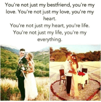 Memes, 🤖, and Your My Everything: You're not just my bestfriend, you're my  love. You're not just my love, you're my  heart.  You're not just my heart, you're life.  You're not just my life, you're my  everything. #bigred