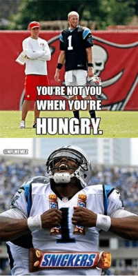 Hungry, Nfl, and Snickers: YOURE NOT YOU  WHEN YOURE  HUNGRY  ONFIMEMEZ Snickers: It Changes You! Credit: Iván A. Navarrete