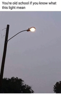 Memes, School, and Mean: You're old school if you know what  this light mean  1.