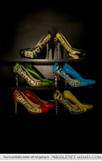 """Harry Potter, Memes, and Shoes: You're probably better off not going to  MUGGLENET MEMES.COM <p>Harry Potter shoes for my wedding. <a href=""""http://ift.tt/1OjCozu"""">http://ift.tt/1OjCozu</a></p>"""