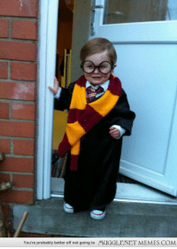 """Cute, Memes, and Http: You're probably better off not going to  MUGGLENET MEMES.COM <p>My youngest as Mr. Potter. So damn cute. <a href=""""http://ift.tt/1FVY6GO"""">http://ift.tt/1FVY6GO</a></p>"""