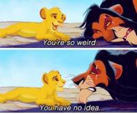 The Lion King: Youre so weira  You have no idea The Lion King
