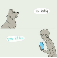 Android, Dogs, and Life: youre stil here  hey budd If dogs could tell stories. (side note: I'll be releasing my second official Android app tomorrow, check it out if you want(please do 🌝)) ° ° ° Created by @sangcoon ° ° ° ° ° ° ° ° ° life truth love truelove soul soulmate dogsofinstgram dog dogs dogsarebetterthanpeople woof dogstagram whyy whygod zombie whatdididotodeservethis thirdperson perspective goodbye marleyandme faithful loyal companion comics webcomic comicstrip reddit feels feelsbadman hellodarknessmyoldfriend