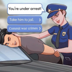 Jail, War, and Him: You're under arrest!  Take him to jail.  Commit war crimes German 1943, colorized