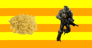 yourfaveismakingmacandcheese:  Doom Guy from Doom is making fucking mac and cheese and nobody can stop him!  : yourfaveismakingmacandcheese:  Doom Guy from Doom is making fucking mac and cheese and nobody can stop him!